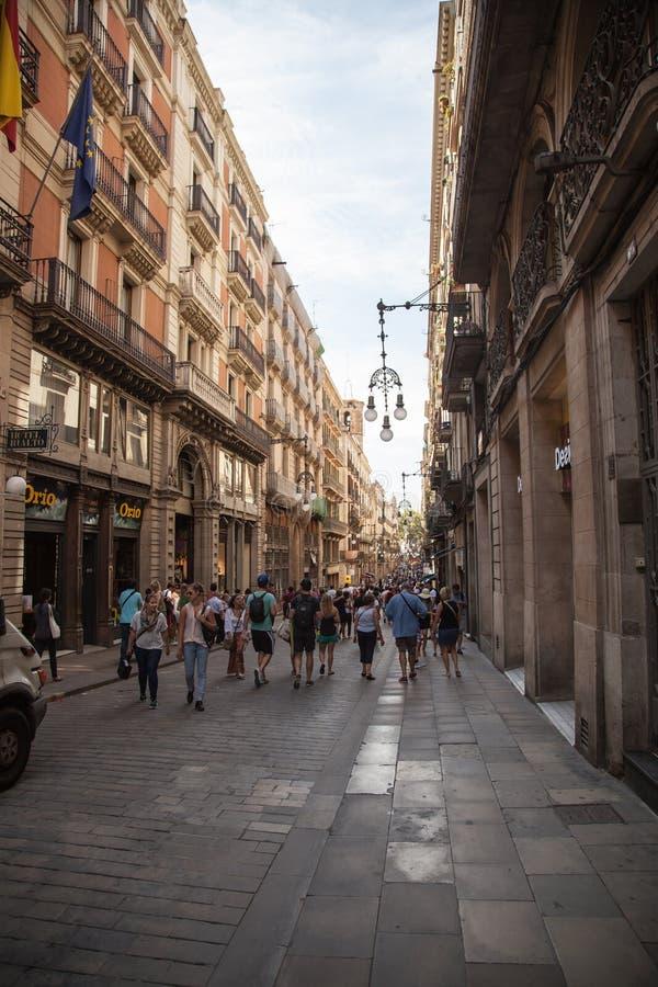 улицы штарки людей движения нерезкости barcelona низкооборотные стоковая фотография