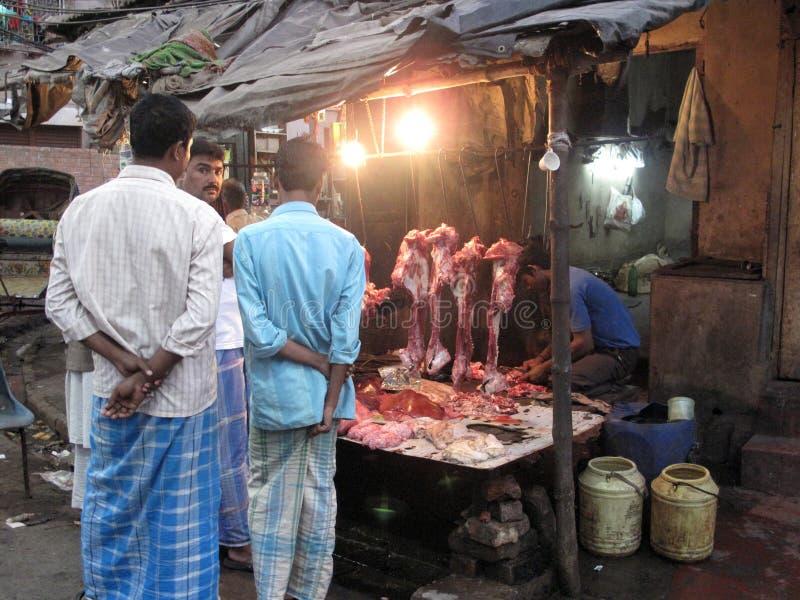 улицы kolkata попроек butcher стоковая фотография