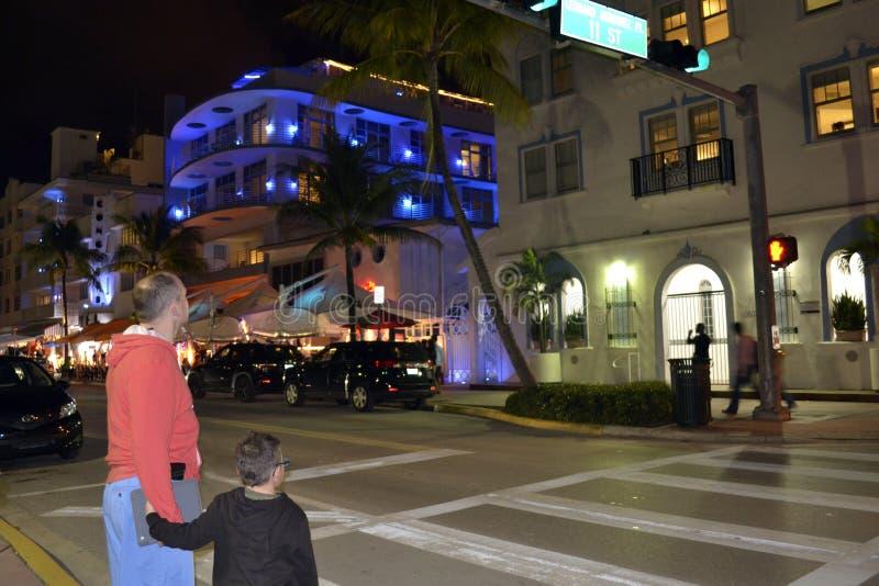 Улицы Miami Beach стоковая фотография