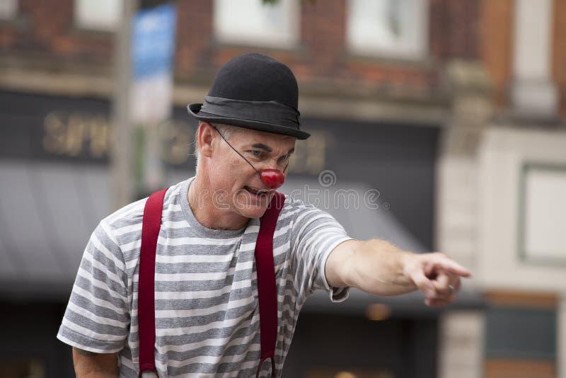 Уличный исполнитель в Голландии Мичигане стоковая фотография rf