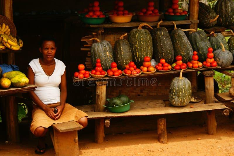 Уличный рынок в Уганде стоковое фото rf