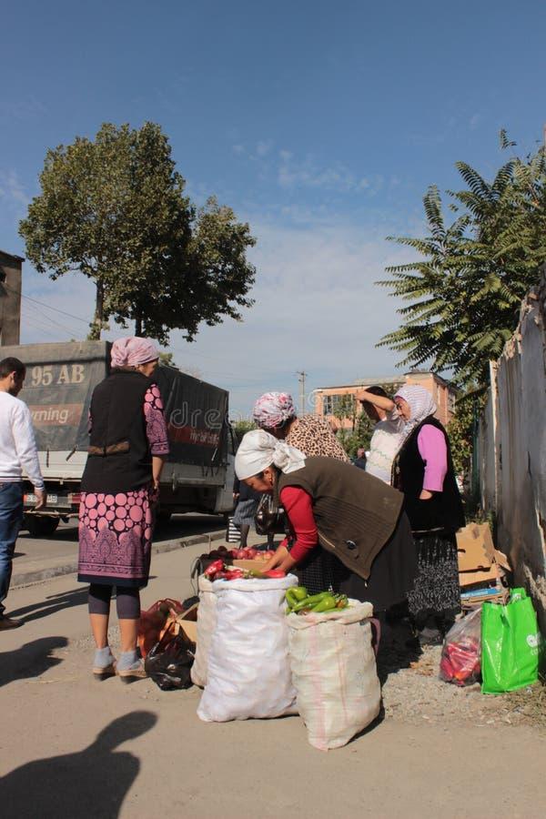 Уличный рынок в Osh стоковое фото rf