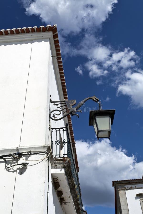 Уличный фонарь в Serpa, Португалии стоковые изображения rf