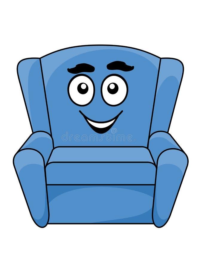 Download Удобное обитое голубое кресло Иллюстрация вектора - иллюстрации насчитывающей иллюстрация, backhoe: 40588490