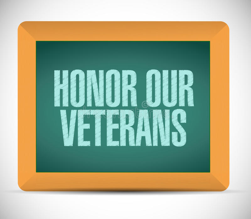 удостойте нашего знака доски ветеранов бесплатная иллюстрация