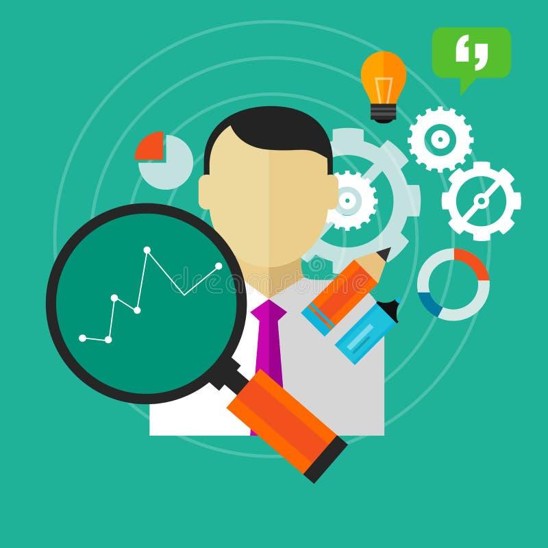 Улучшение представления улучшает измерение работника персоны дела KPI иллюстрация штока