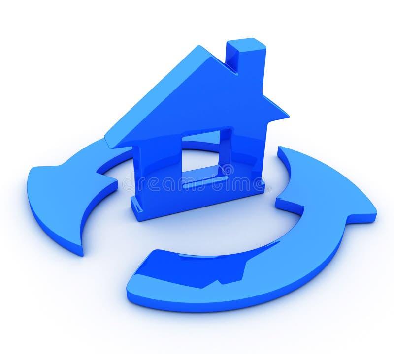 Улучшение снабжения жилищем иллюстрация штока