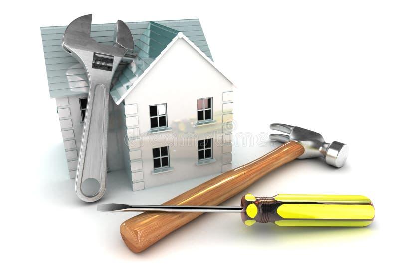 Улучшения дома иллюстрация вектора