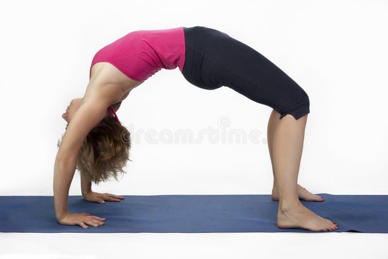 Улучшите представление йоги стоковые изображения rf