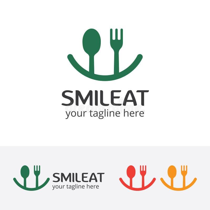 Улыбка ест логотип, счастливую еду бесплатная иллюстрация