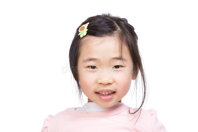 Улыбка маленькой девочки Азии стоковая фотография rf