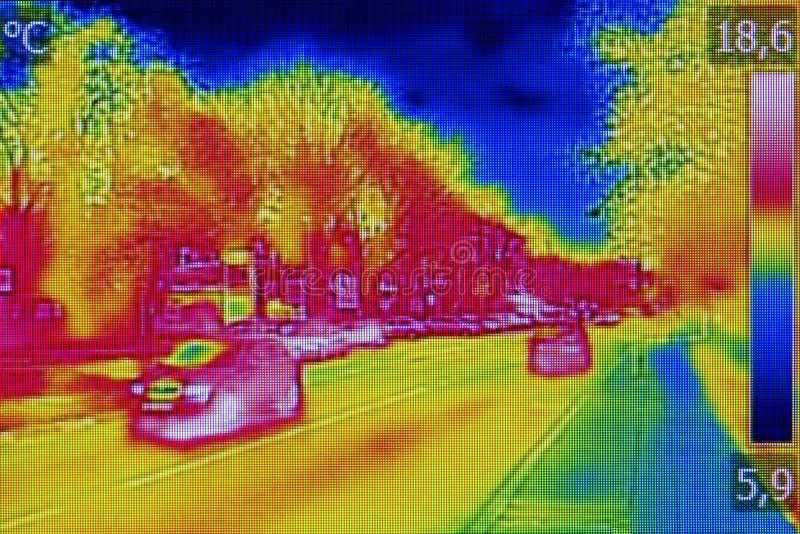 Ультракрасное изображение thermovision стоковое фото rf