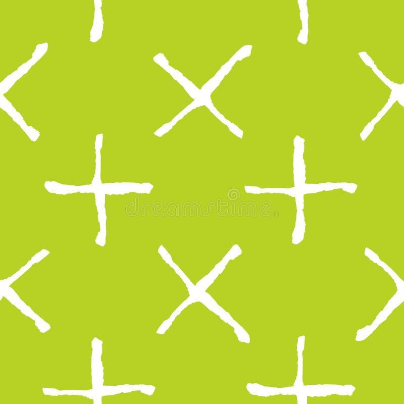 Ультрамодная безшовная картина с handdrawn формами иллюстрация вектора