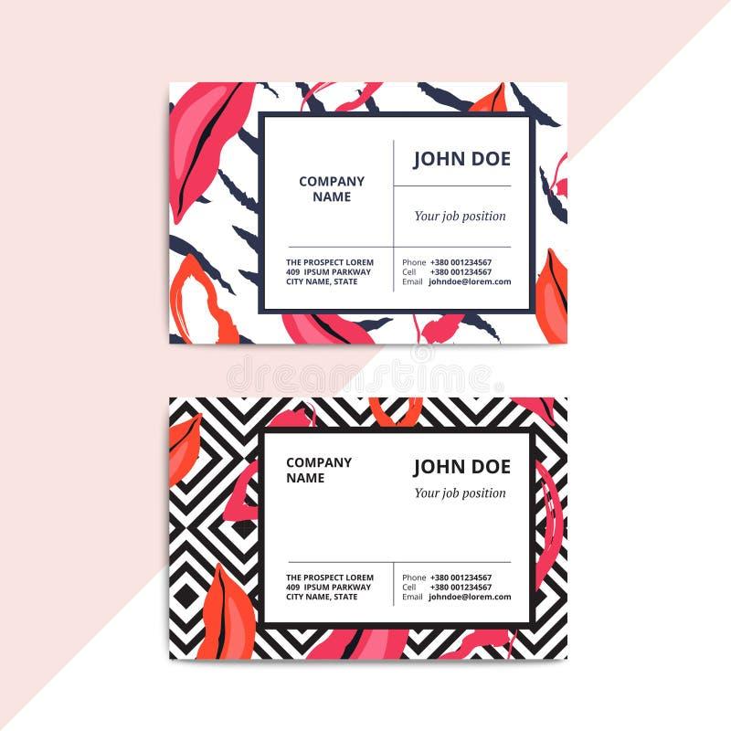 Ультрамодные абстрактные шаблоны визитной карточки Современную роскошную красоту sa бесплатная иллюстрация