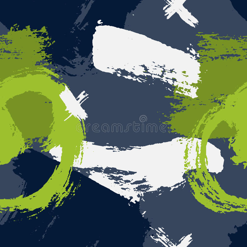 Ультрамодные безшовные обои при рука покрашенная с щеткой Вручите вычерченные геометрические текстуры картины сделанные с чернила иллюстрация штока