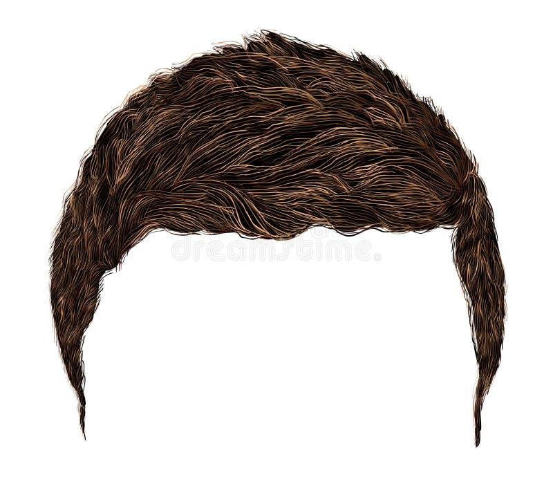 Ультрамодные волосы человека короткая длина Реалистическое 3d бесплатная иллюстрация