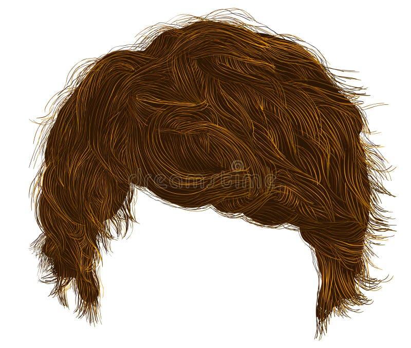 ультрамодный край волос человека средств длина Реалистическое 3d иллюстрация штока