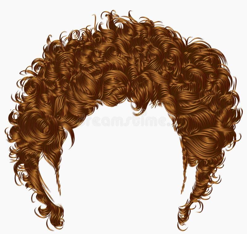 ультрамодный край волос человека средств длина Тип красотки Реалистическое 3d иллюстрация штока