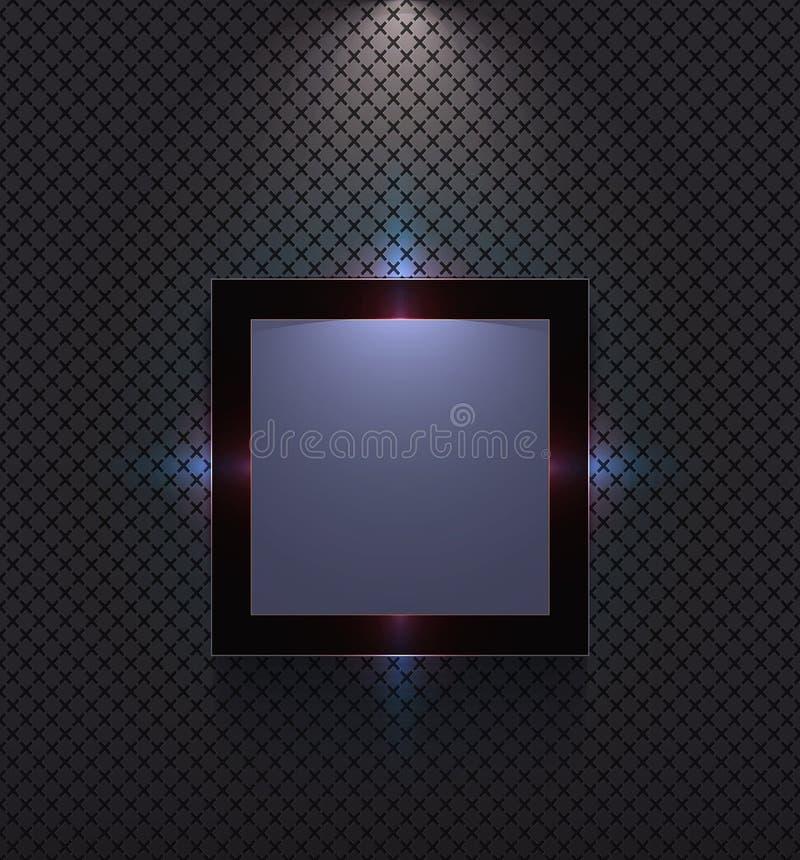 Ультра современная рамка на стене стоковое фото