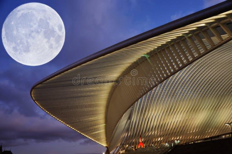 Ультра современный вокзал стоковое изображение