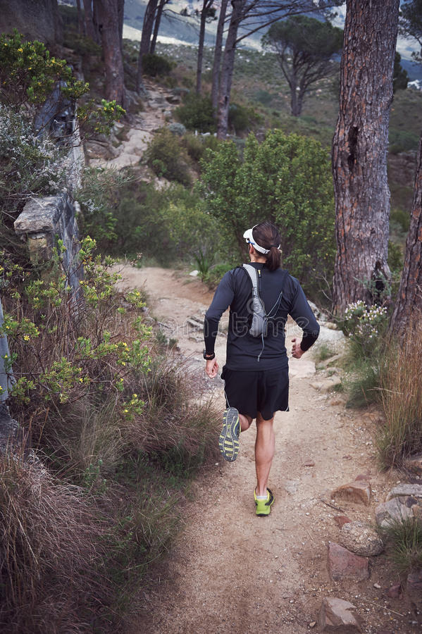 Download Ультра человек марафона стоковое изображение. изображение насчитывающей кавказско - 40580077