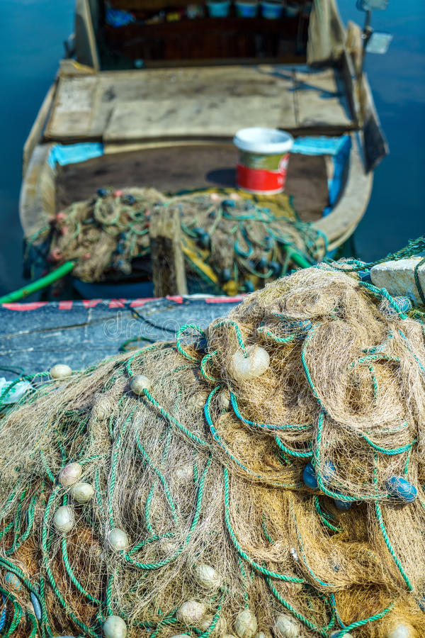 Удя линии Fishnets стоковые фото