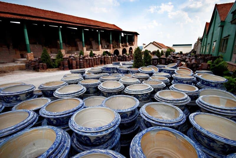 Фабрика гончарни стоковое фото rf