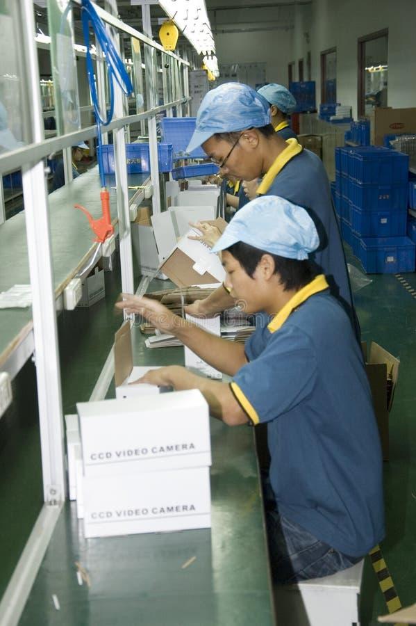 фабрика китайца cctv камеры стоковые изображения rf