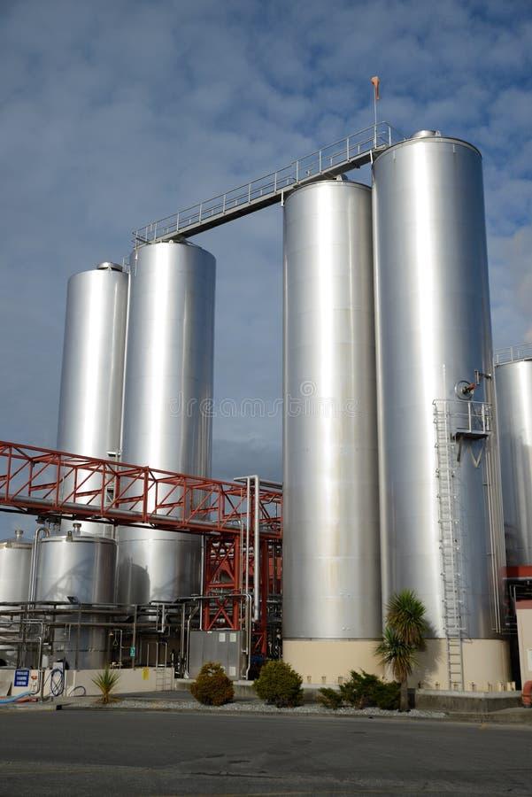 Фабрика молока стоковые изображения
