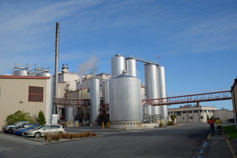 Фабрика молока стоковое изображение