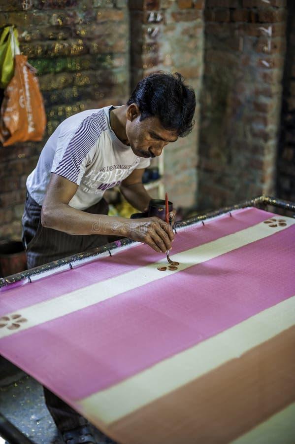 Фабрика ткани в Индии стоковое фото rf
