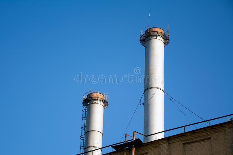 Фабрика трубы стоковое изображение rf