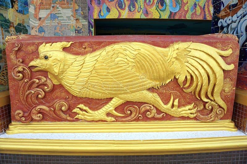 Фазан высекаенный камнем святилища стоковое изображение
