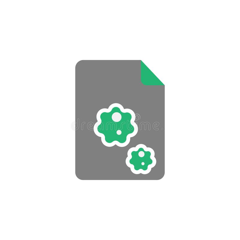 Файл, зараженный значок Элемент значка кибер и безопасности для мобильных приложений концепции и сети Детализированный файл, зара бесплатная иллюстрация
