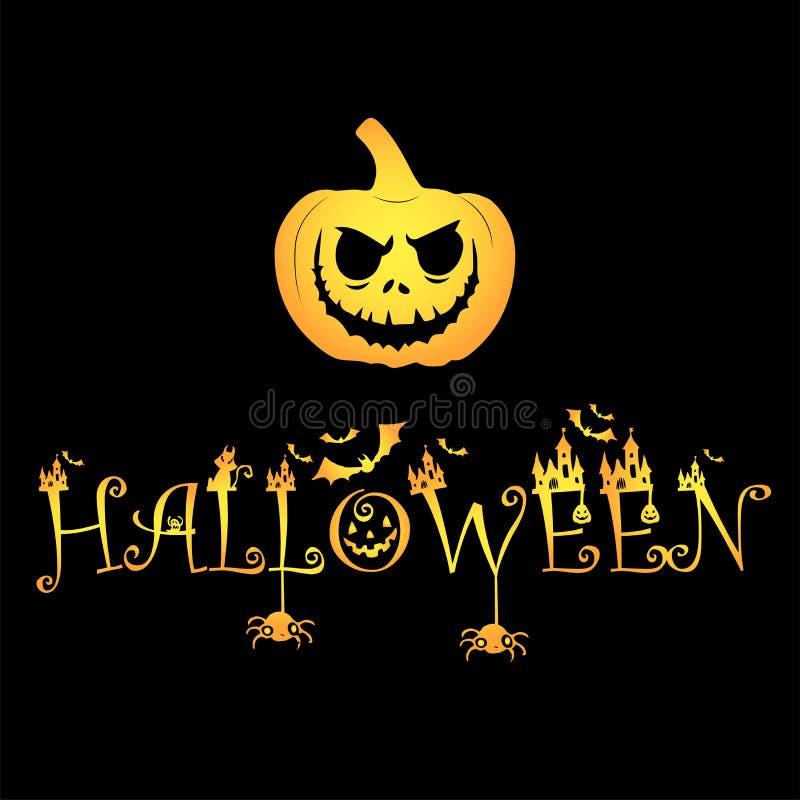 Файл логотипа тыквы хеллоуина тыквы стоковое изображение