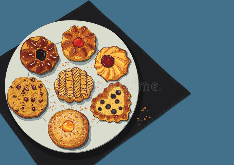 Файлы Cookies иллюстрация штока