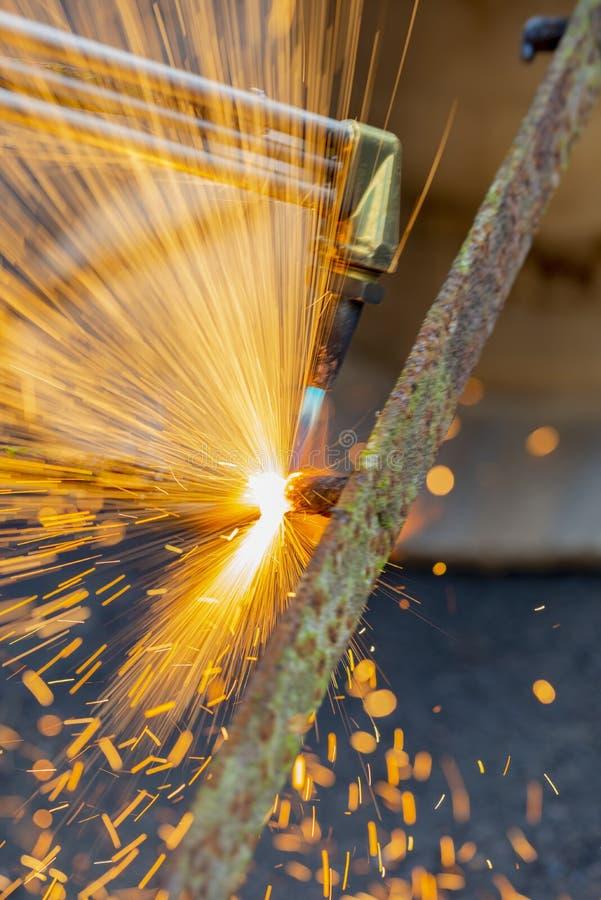 Факел газовой резки стоковое фото rf