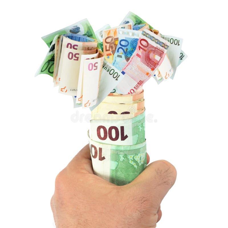 факел евро кредиток стоковое изображение