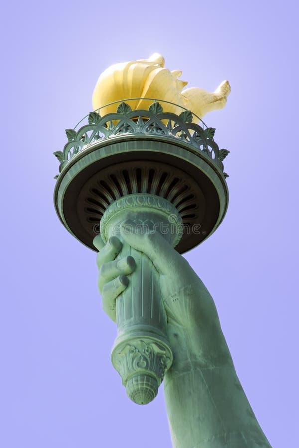 факел статуи вольности s стоковая фотография rf