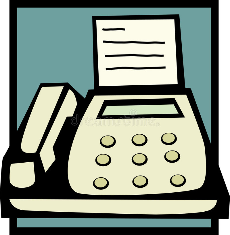 факсимильная машина бесплатная иллюстрация