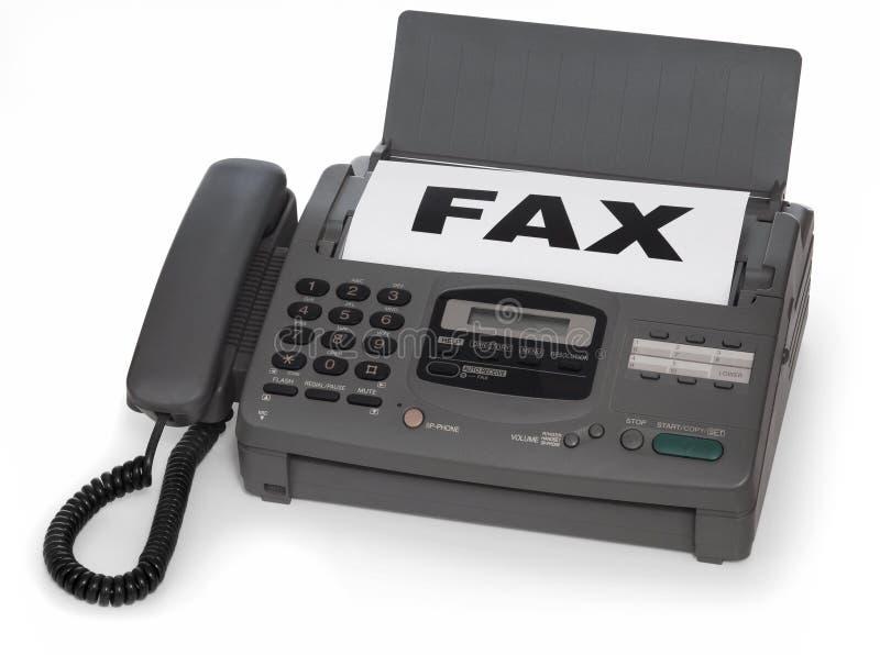 факсимильная машина стоковое изображение
