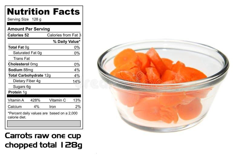 факты морковей питательные стоковое изображение rf