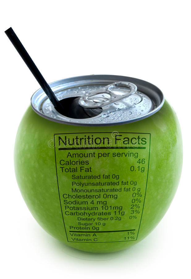 Факты питания Apple стоковые изображения