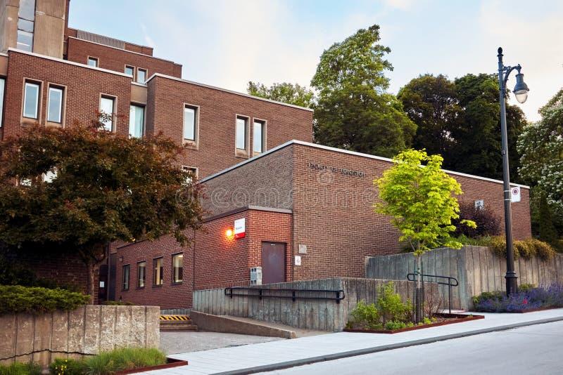 Факультет университета McGill здания образования в держателе королевском, Монреале, Квебеке, Канаде стоковая фотография