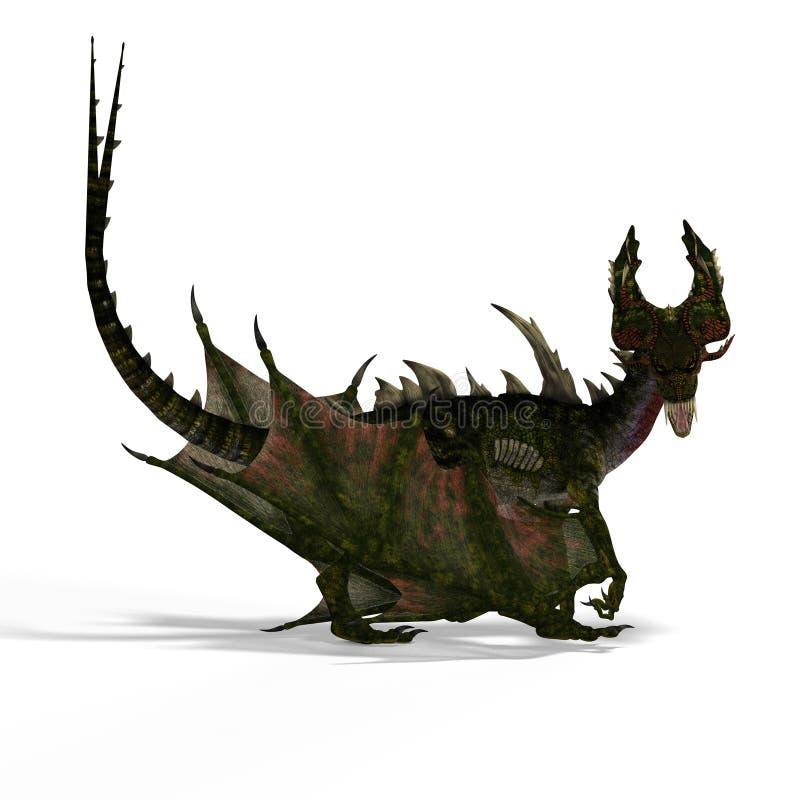 фантазия дракона большая иллюстрация штока