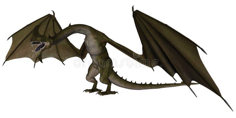 фантазия дракона иллюстрация штока