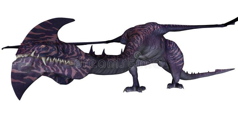фантазия дракона иллюстрация вектора