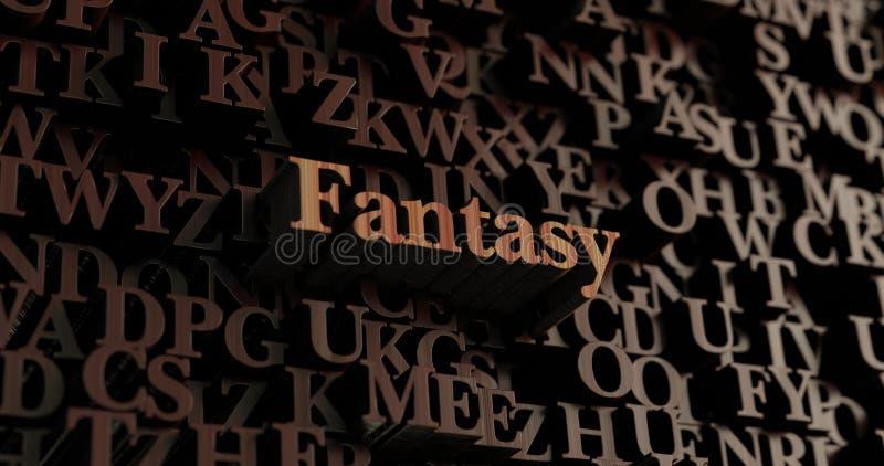 Фантазия - деревянное 3D представило письма/сообщение иллюстрация штока