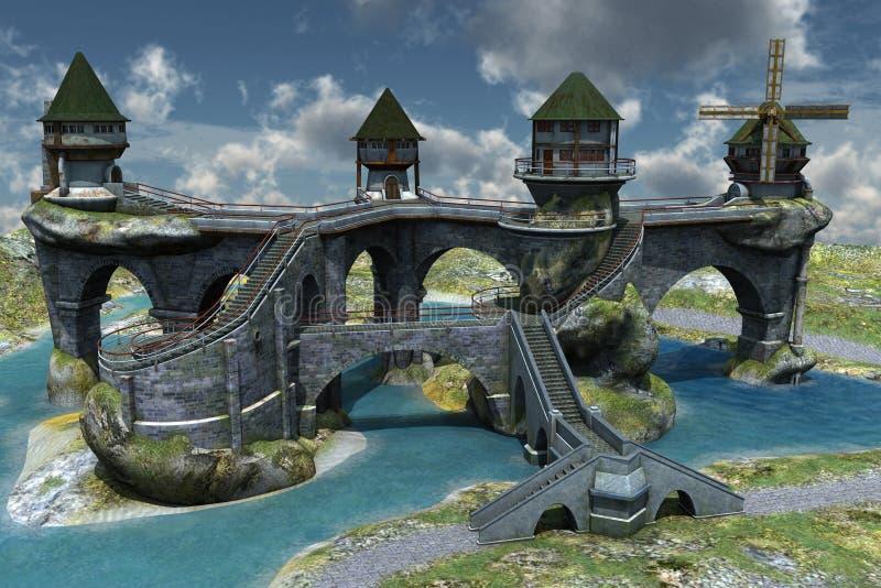 фантазия замока бесплатная иллюстрация
