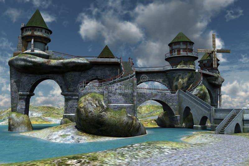 фантазия замока иллюстрация штока